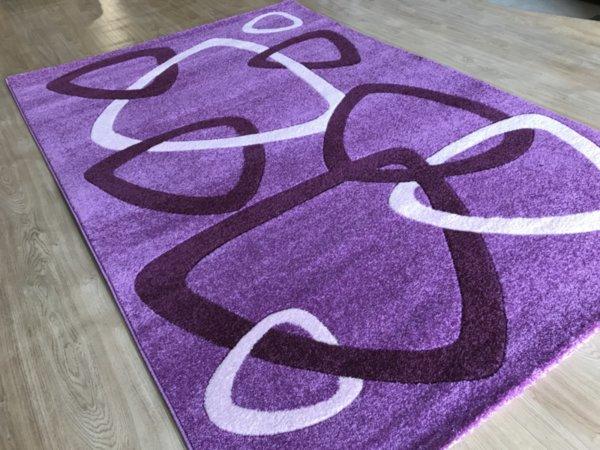 релефен килим съни   7110 лила